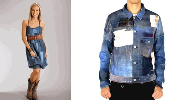 джинсовое платье и пиджак/куртка/жакет в стиле печворк