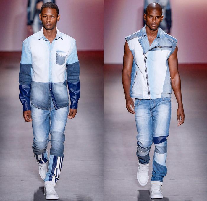 самый свежий на 2014 тренд джинсы в стиле пэчворк