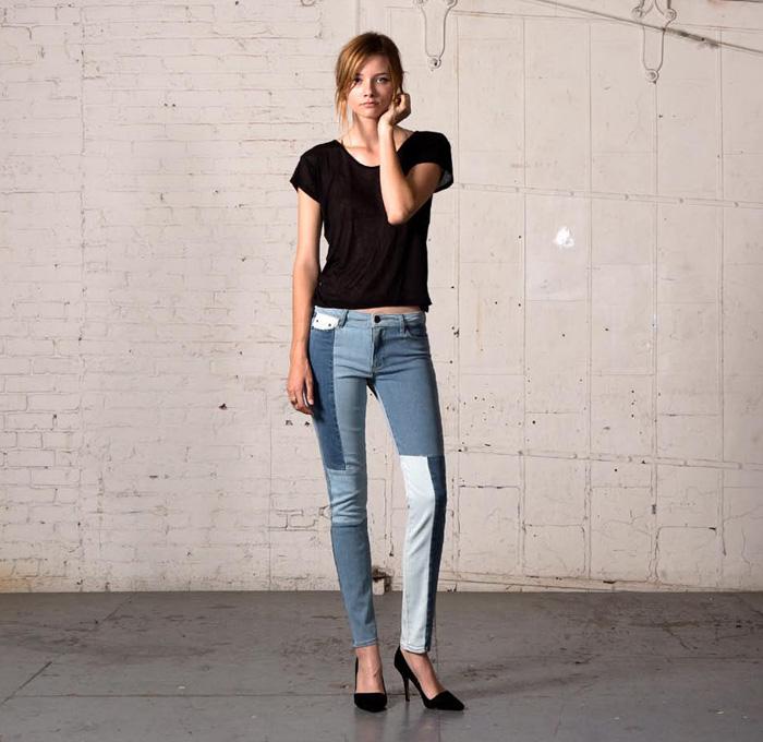 Как сделать трендовую джинсу в стиле пэчворк на раз-два-три