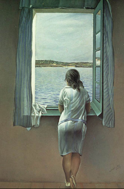 Фигура женщины у окна