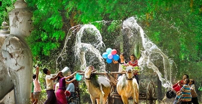 В Мьянме новый год 2019