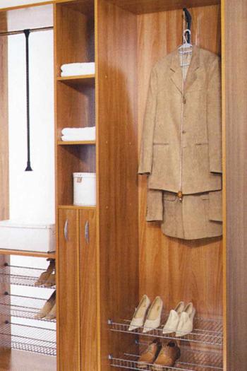 Вариант полок для обуви в шкаф