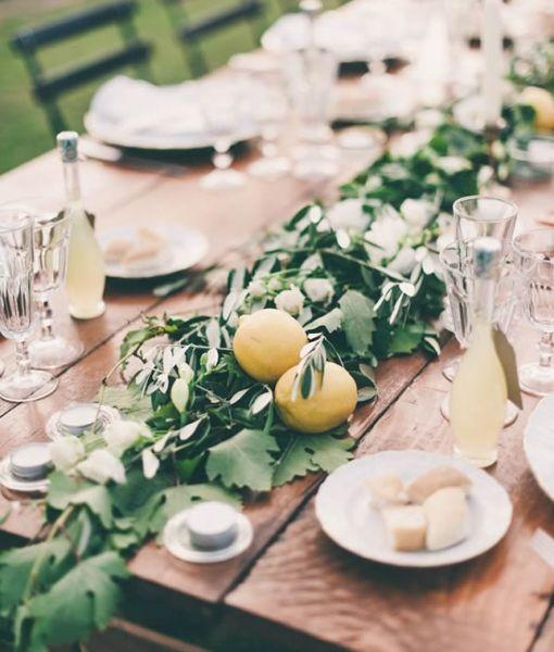 Как использовать фрукты в свадебном декоре