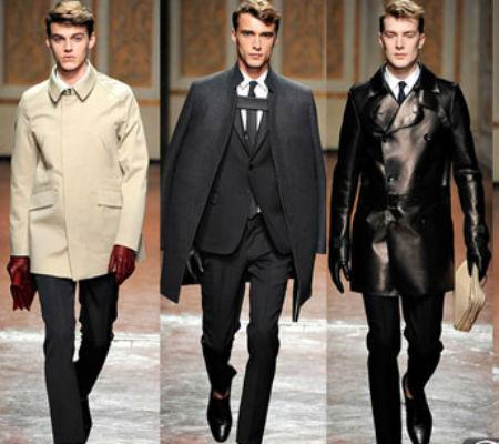 мужская мода осени 2013 пиджаки пальто кожаные куртки.