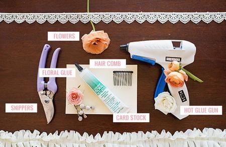 Как сделать праздничный гребень для волос?