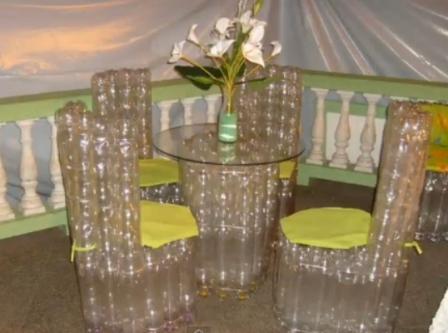 Мебель из пластиковых бутылок как сделать