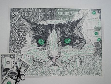 Как создаются необычные картины. Картины из бумажных купюр