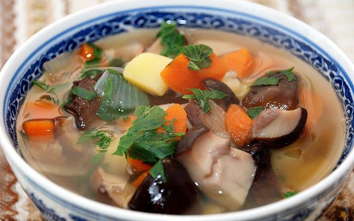 как приготовить грибы на суп