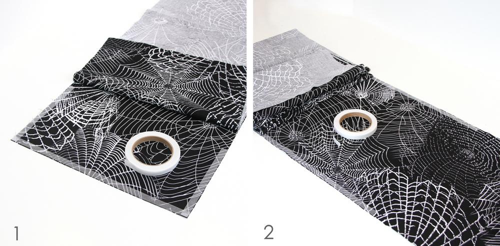 Как сделать скатерть с пауками для декора на Хэллоуин?