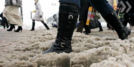 Испытание для обуви в зимнее время года