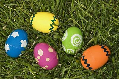 Пластиковые яйца, открывающиеся посередине