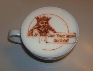 Как получаются рисунки на кофе?