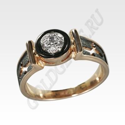 драгоценное кольцо с эмалью и бриллиантом