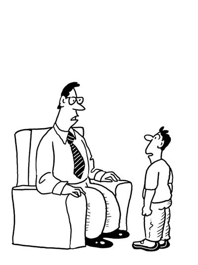 Не смотрите на ребенка свысока, наоборот, слушайте ее или его