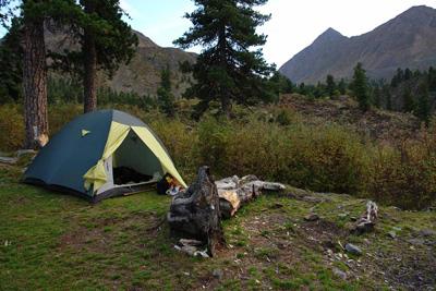 Поход с палаткой, ну чем не отдых?