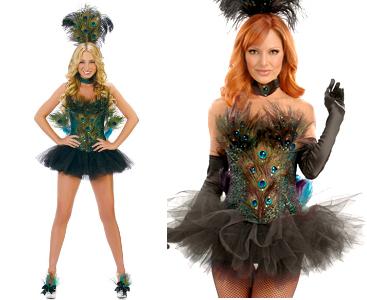 вульгарные женские костюмы павлина на Хэллоуин