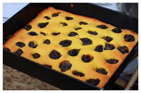 Как испечь сладкий пирог с тыквой и черносливом.