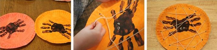 Как сделать детские поделки на Хэллоуин? Часть 2: Тыква и пауки.