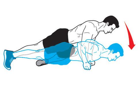 ...потому как мышечные волокна порвались и теперь им нужно восстановится, а это и... Отжимания от пола...