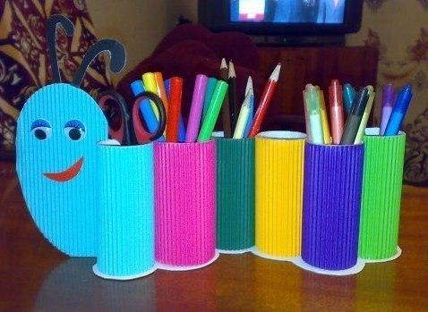 Как делать поделки из рулонов от туалетной бумаги