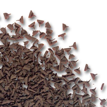 стружки темного шоколада