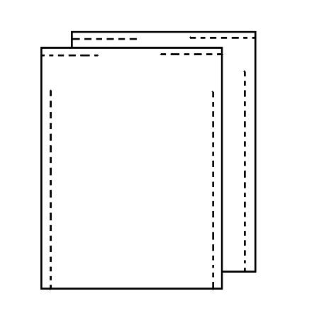 Два прямоугольника белой ткани сшей друг с другом по бокам – по длине – оставляя с самого верха и вниз отверстия для рук – свободный участок ткани около 35 см
