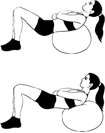 Упражнения для стройной талии на фитболе