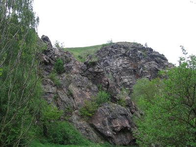 скалы в парке Divoká Šárka