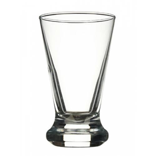высокий прозрачный стакан бокал для коктейлей с мороженым