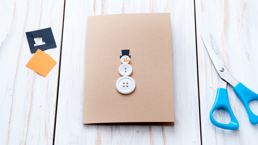 Как сделать самые простые новогодние открытки?