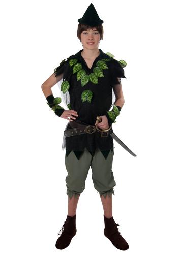 иногда на костюм Питера Пена нашивают искусственные листья