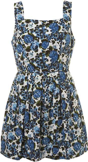 Цветочные ретро-платья классически имели тесный, умеренно открытый верх или бретели...