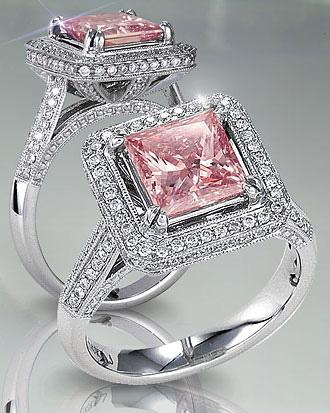 розовые плоские бриллианты