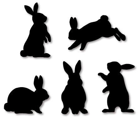 DLE Files Group. igorslotyuk.  Силуэты, контуры кроликов для выпиливания из фанеры и вырезания из картона. пройдите...