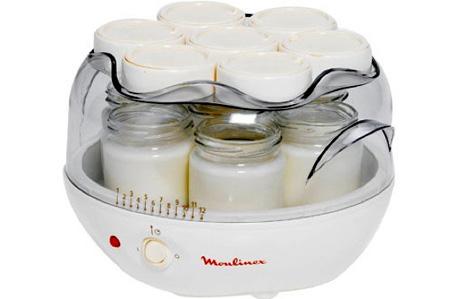 Баночки с йогуртом в йогрутнице, крышки удобно располагать сверху