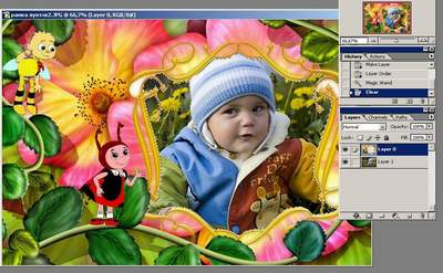 Как вставить фотографию в рамку в программе Photoshop?