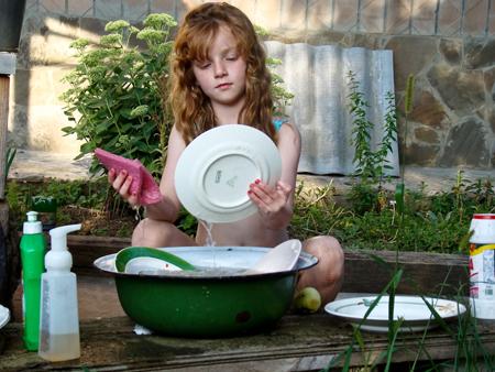 Бытовая химия для мытья посуды