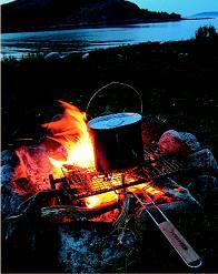 Приготовление пищи на решетке Forester. Фото Анвара Галеева
