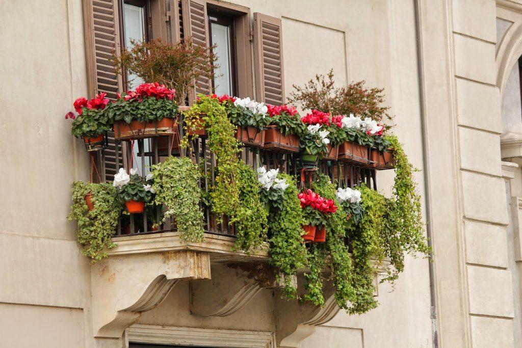 Как украсить лоджию цветами