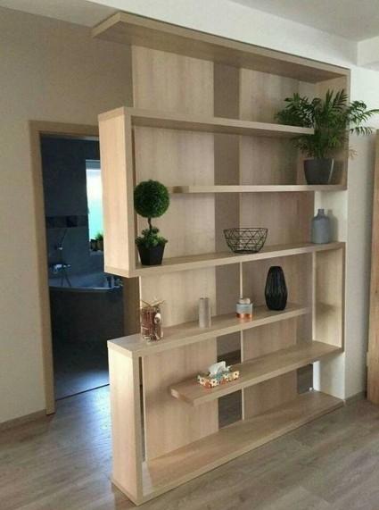Как зонировать комнату при помощи мебели: шкаф-перегородка